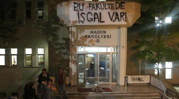 İtü Öğrencileri Maden Fakültesi'ni İşgal Etti