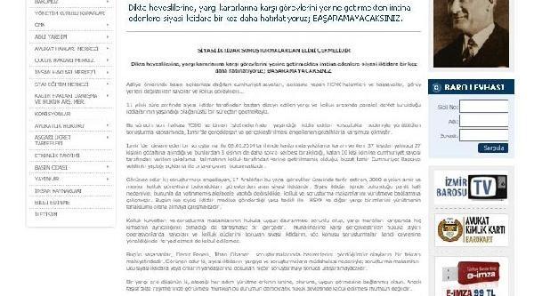 Izmir Barosu: Iktidar Soruşturmalardan Elini Çeksin