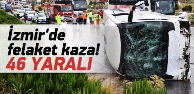 İzmir'de büyük kaza ilk bilgi: 46 yaralı