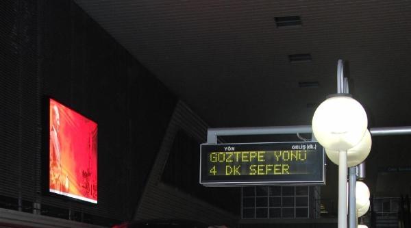 İzmir Metrosunun Göztepe İstasyonu Da Sefere Açıldı