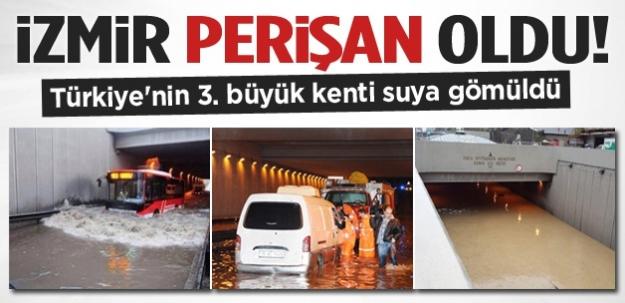 İzmir'de caddeler göle döndü !
