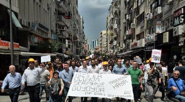 İzmir'de Chp'li Gençlerden 'taşerona Hayır' Eylemi