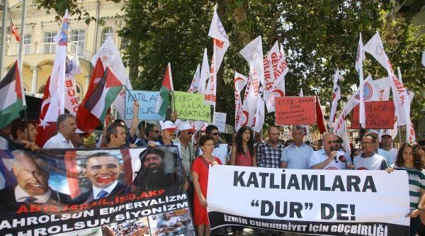 İzmir'de Cumhuriyetçilerden Gazze Protestosu