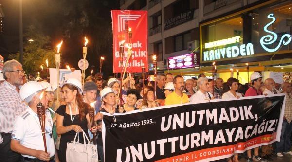 İzmir'de 'depreme Duyarlılık Yürüyüşü'