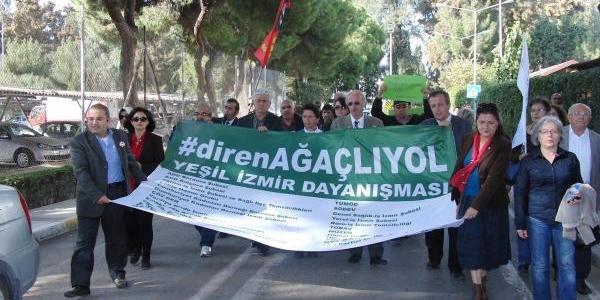 Izmir'De 'direnağaçliyol' Eylemi