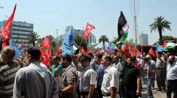 İzmir'de İsrail Protestosu