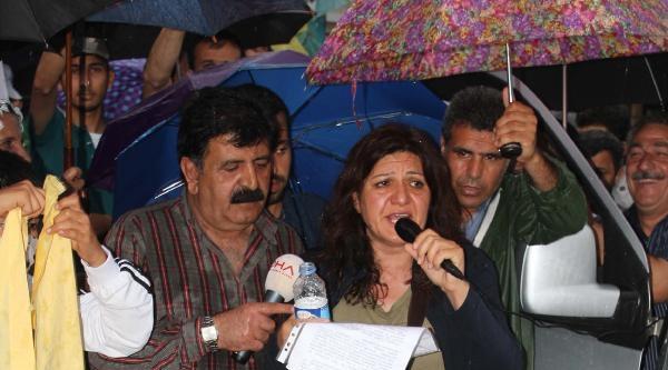 İzmir'de Lice'deki Olaylar Protesto Edildi