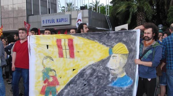 İzmir'de Soma Protestosuna Toma'lı Müdahale