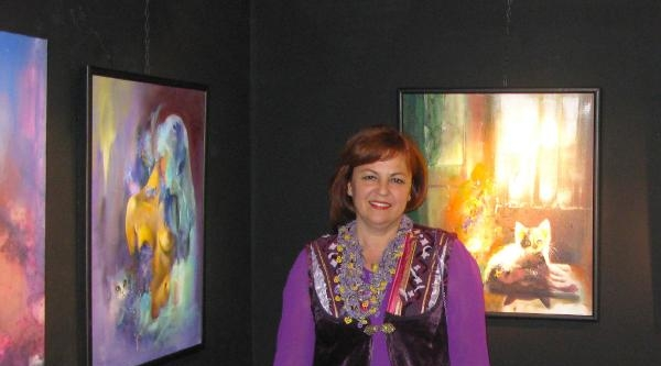 İzmirli Ressam Paris'te Sergi Açtı