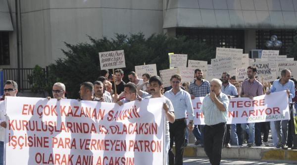 İzmit'teki Fabrika İşçileri Bir Haftadır Eylemde