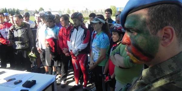 Jandarma Bisikletçilere Afet Eğitimi Verdi