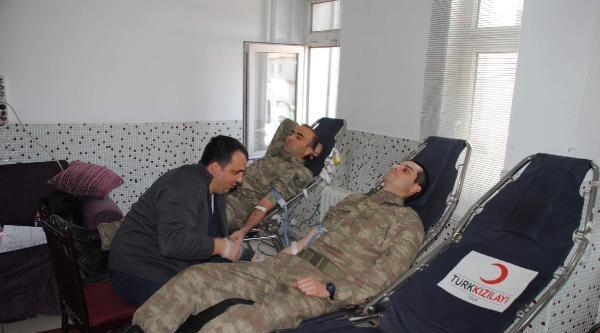 Jandarma Ekiplerınden Kan Bağışı