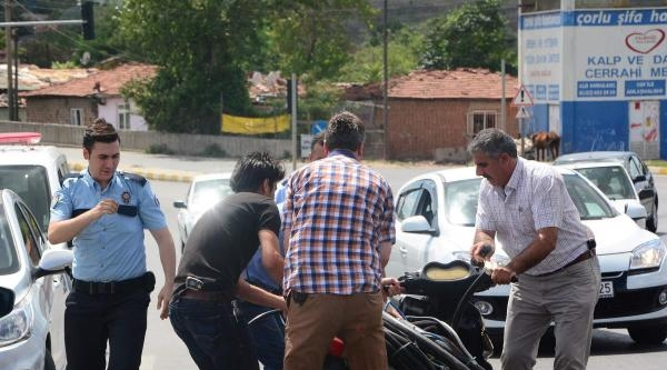 Kablo Çaldi, Motosikletle Kaçaren Yakalandı