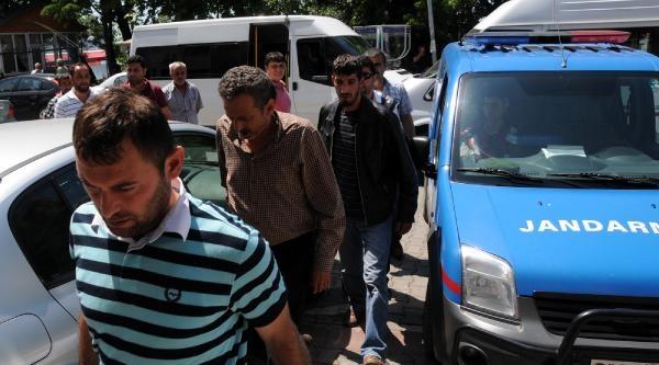 Kaçak Ocakçılara Rüşvet Operasyonunda 9 Şüpheli Adliye'de