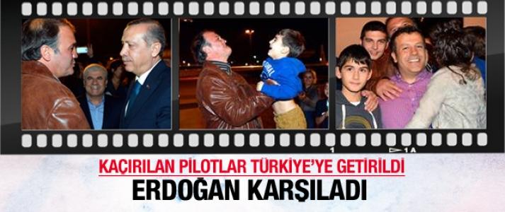 Kaçırılan Türk pilotlar, Türkiye'ye getirildi...