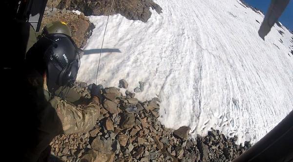 Kaçkar Zirve Tırmanışında Yaralanan Alman Dağcı Helikopterle Kurtarıldı - Fotoğraflar