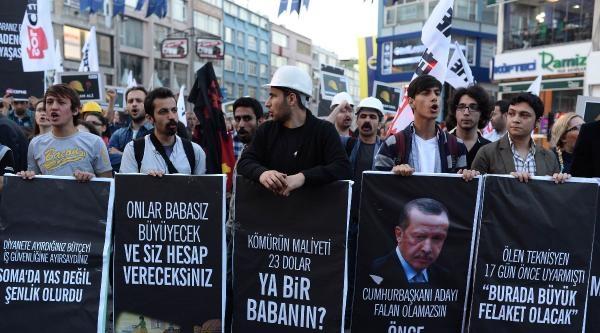 Kadıköy'de Soma İçin Yürüyüş