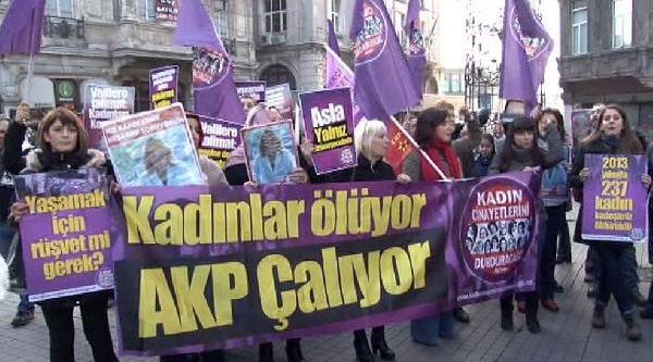 Kadin Cinayetleri Protestosunda Arbede