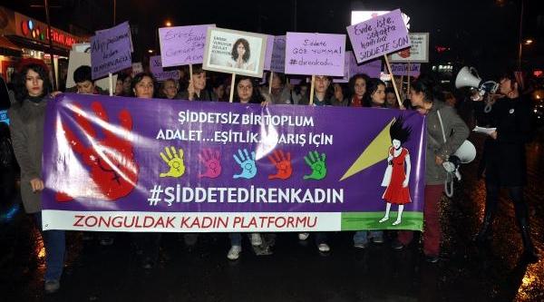 'kadina Yönelik Şiddet'e Kadin Protestosu