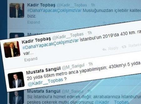 Kadir Topbaş ile Mustafa Sarıgül sosyal medyada olay oldu!