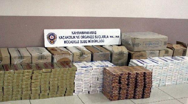 Kahramanmaraş'ta 12 Bin Paket Kaçak Sigara Ele Geçirildi