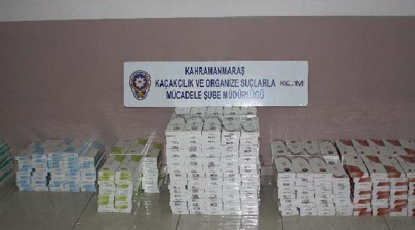 Kahramanmaraş'ta 9790 Paket Kaçak Sigaraya Ele Geçti