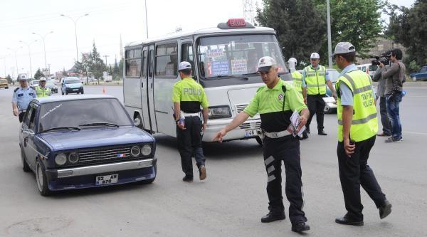 Kahramanmaraş'ta Gürültüye Yol Açan Araçlar Denetlendi