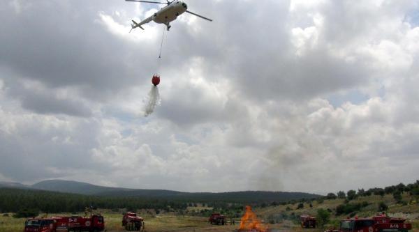 Kahramanmaraş'ta Hava Destekli Yangın Tatbikatı