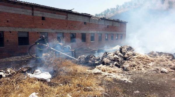 Kahramanmaraş'ta Küspe İmalathanesinde Yangın