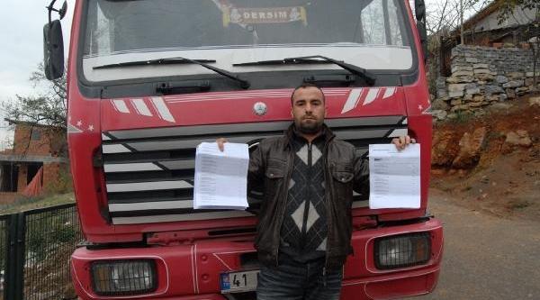 Kamyon Şoförüne 17 Bin 200 Liralik Kaçak Geçiş Cezasi