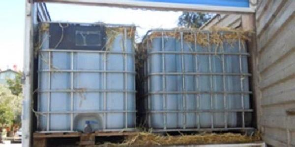 Kamyonda Üstü Saman Kapli Tanklarda 16 Ton Kaçak Akaryakit