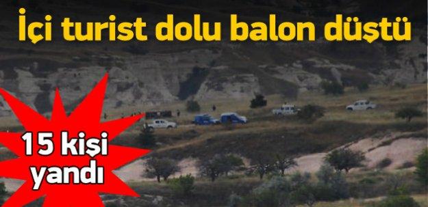 Kapadokya'da balon kazası: 15 turist yaralı