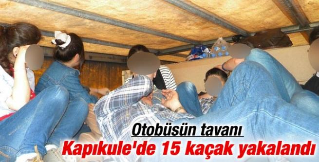 Kapıkule'de tavana gizlenen kaçaklar yakalandı
