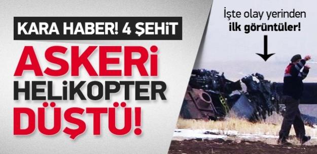 Kara haber! Ankara'da askeri helikopter düştü: 4 şehit
