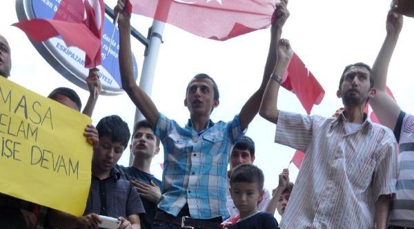 Karabük'te İsrail Bayrağı Yakıldı