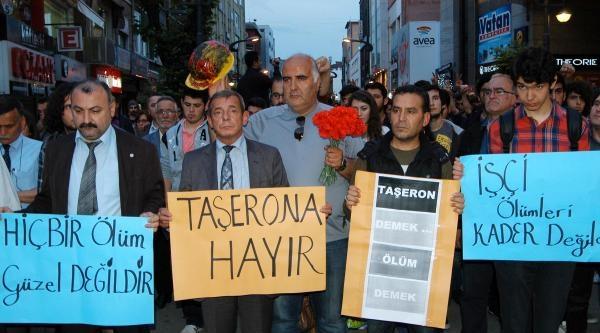 Karabük'te Soma Faciası Protesto Edildi
