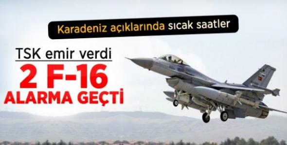 Karadeniz'de Rus uçağı gerginliği! Türk F-16'ları görevde...
