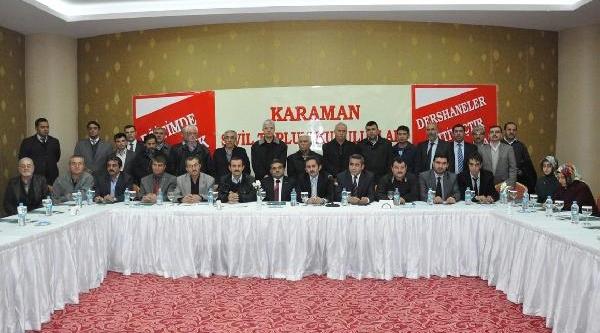 Karaman'da 41 Sivil Toplum Kuruluşundan Dershane Tepkisi