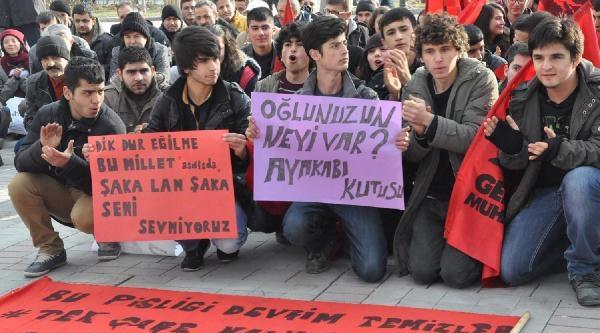 Karaman'da Yolsuzluğu Protesto Gösterisi
