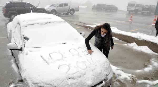 Kartepe'de Kar Yağışı Başladı (2)