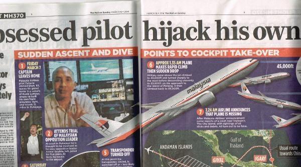 Kayıp Uçakla İlgili Hergün Yeni Bir Teori Üretiliyor