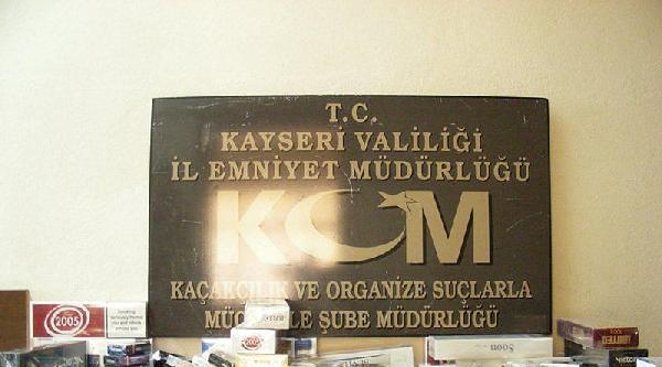 Kayseri'de 221 Bin Paket Kaçak Sigara Ele Geçirildi