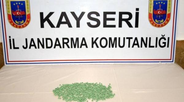 Kayseri'de 750 Ecstasy Hap Ele Geçirildi
