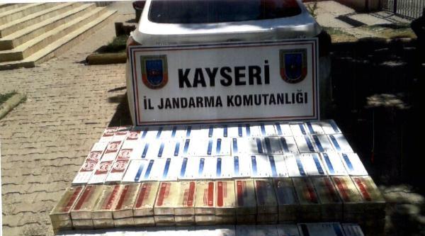 Kayseri'de 8 Bin Paket Kaçak Sigara Ele Geçirildi