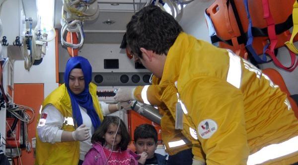 Kayseri'de Anne Ve 2 Çocuğu Sobadan Çikan Gazdan Zehirlendi