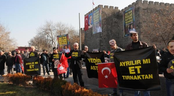 Kayseri'De Başbakan'A Destek Zinciri