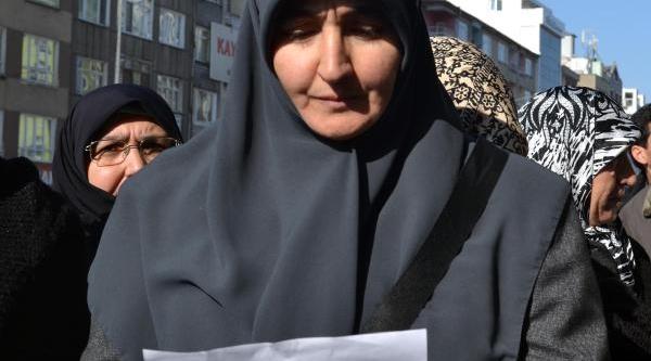 Kayseri'de Ihh'ya Destek Eylemi