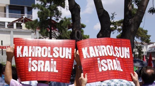 Kayseri'de İsrail'e Protesto