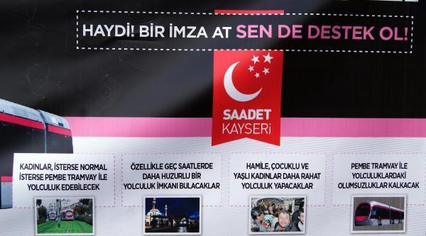 Kayseri'de Kadınlara Özel 'pembe Tramvay' İstendi
