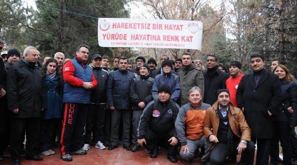 Kayseri'de 'sağlikli Yaşam Yürüyüşü'